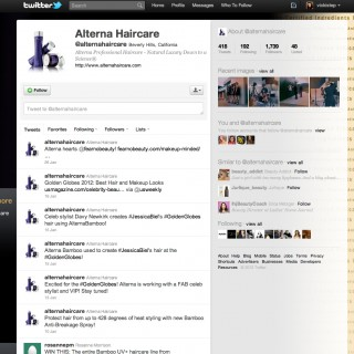 Twitter & YouTube Page Skins for Alterna Haircare