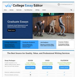 College Services Website WordPress