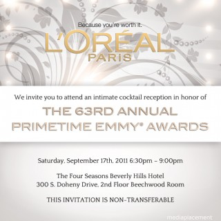 Emmy Party Invite
