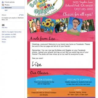 Facebook Landing Tab for Childrens Art Studio