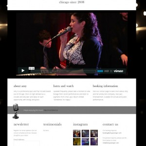 Jazz Artist Website