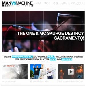 Record Label WordPress Website