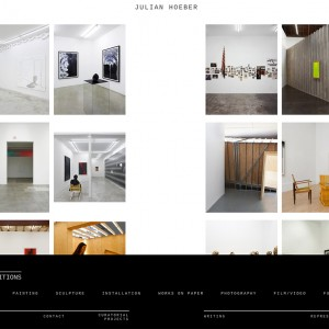 Contemporary Artist WordPress Portfolio Website