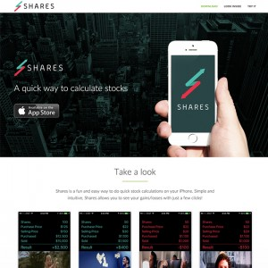 WordPress One-Page Website for iOS Application