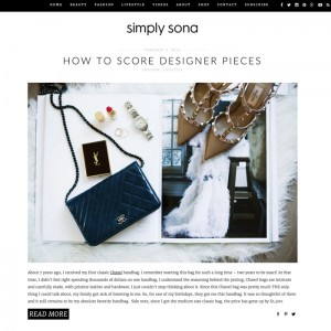 Beauty Fashion Blogger WordPress Website